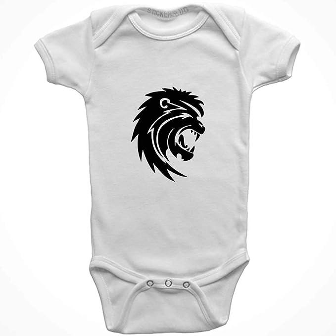 2b089faf351f Amazon.com  Stickerslug Lion Onesie Baby Clothes Jumper (White ...