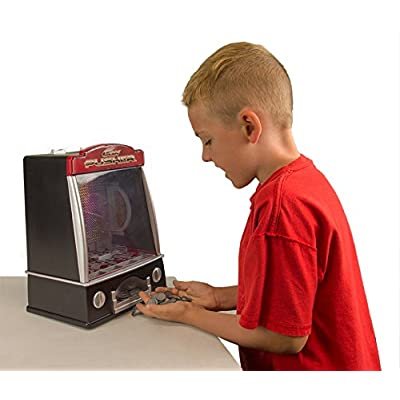 Miniature Arcade Coin Pusher with Flashing Lights and Tilt Alarm