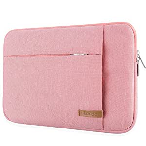 "Lacdo 13.3 Inch Laptop Sleeve Case for 13 Inch MacBook Pro Retina 2012-2015/ MacBook Air 13"" / 12.9 Inch iPad Pro, Dell HP Acer ASUS Samsung Lenovo Chromebook Notebook Bag Tablet, Water Resistant,Pink"