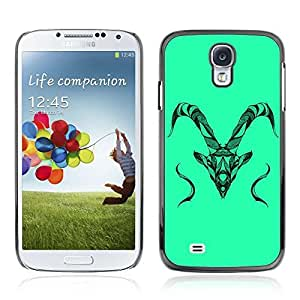 Colorful Printed Hard Protective Back Case Cover Shell Skin for Samsung Galaxy S4 IV (I9500 / I9505 / I9505G) / SGH-i337 ( Beautiful Animal Detailed Illustration )