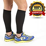 Calf Sleeve (1 pair) - Best True Graduated Compression Leg Sleeves For Running, Basketball - Boost Circulation - Faster Recovery for Runners - Aid Shin Splints & Strains.