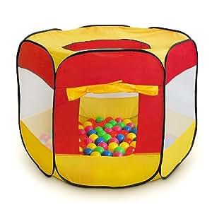 Carpa para niños Juguetes Piscina de bolas 90 x 90 x 70 cm Con 100 bolas incluidas
