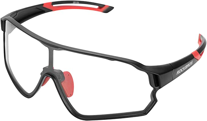 RockBros Glasses Photochromatic /& Anti-blue Lense Goggles with Myopia Frame