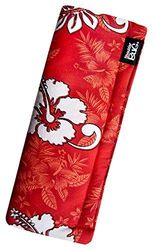 Shoulder Bug Seat Belt Shoulder Pad Hibiscus Red by -