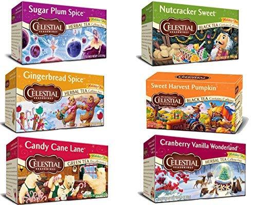 (Bundle: Celestial Seasonings Holiday Tea Sampler 6-pack)