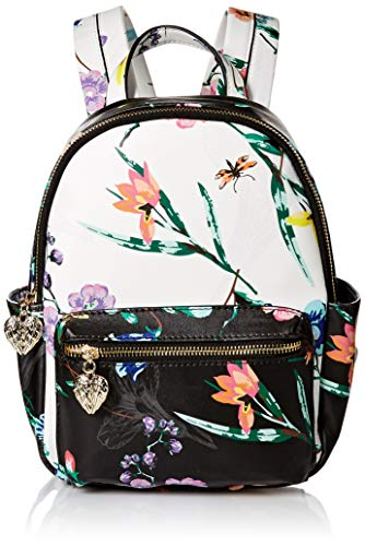 Betsey Johnson Botanical Mini Backpack, Black Floral