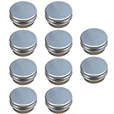 Elisona-10 PCS 15G Mini Empty Aluminum DIY Homemade Travel Nail Art Lip Balm Cosmetic Samples Body Cream Lotion Container