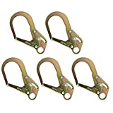 Fusion Climb Infinity High Strength Steel Extra Large Drop Forged Double Lock Rebar Snap Hook 5-Pack