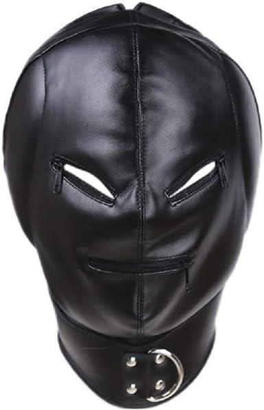 Black Full Head Hood Restraint Roleplay Mask Headgear 5 Types NEW Kinky Couple