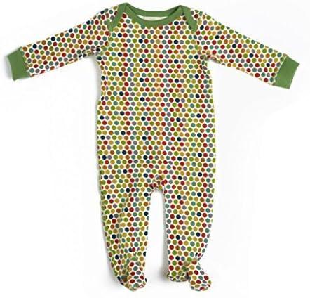 KATEBABY Baby Footie in Dots