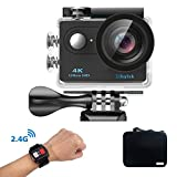 Action Camera,Mbylxk ICAM-H9R 4K WIFI Sports Video waterproof 30M Action Camera 170 Degree Wide Angle 2 Inch LCD Screen w/ 2.4G Wireless Remote Control/ 2 Rechargeable Batteries (BK)