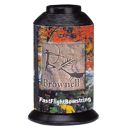 EBBQ Brownell Fast Flight Bow String, 0.015/0.25-Pound, Black