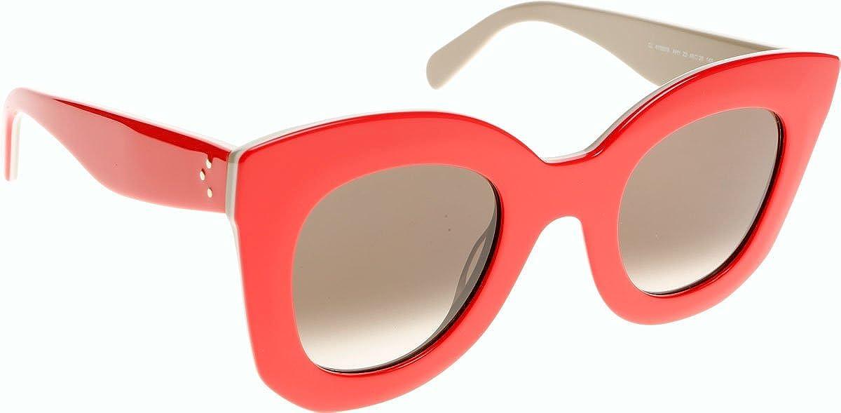 3e426e929f3 Celine 41093 AHY Red Ivory Beige Marta Cats Eyes Sunglasses Lens Category  3  Amazon.co.uk  Clothing