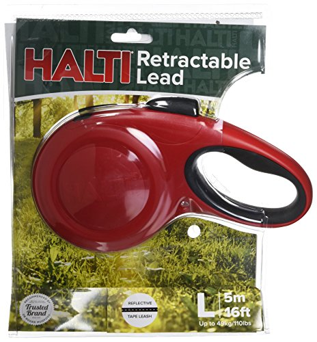 The Company of Animals - HALTI Retractable Dog Leash - One Button Break and Lock - Large - Red by The Company of Animals (Image #2)