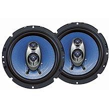 Pyle PL63BL 6.5 inch 360 Watt Three-Way Blue Label Speakers Pair
