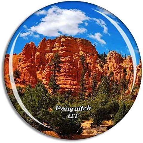 パンギッチレッドキャニオンユタ州米国冷蔵庫マグネット3Dクリスタルガラス観光都市旅行お土産コレクションギフト強い冷蔵庫ステッカー