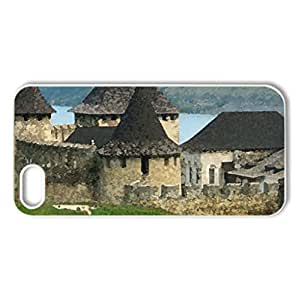 UKRAINE-Chernivesti fortress - Case Cover for iPhone 5 and 5S (Monuments Series, Watercolor style, White)
