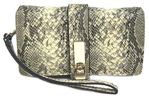 GUESS Kingsley Cognac Smartphone Wristlet Wallet Case, Python