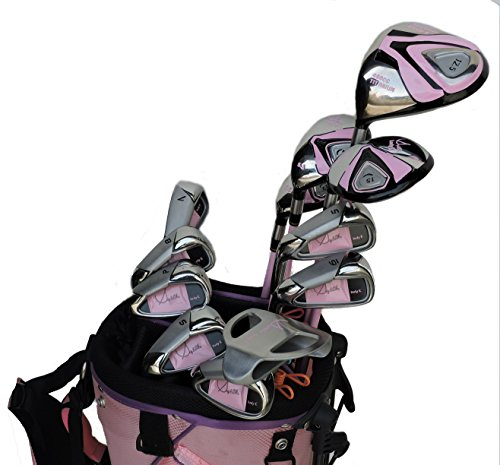 Sephlin - Womens Pink Signature Left Hand 12 PCS Golf Clubs Set and Golf Bag ()