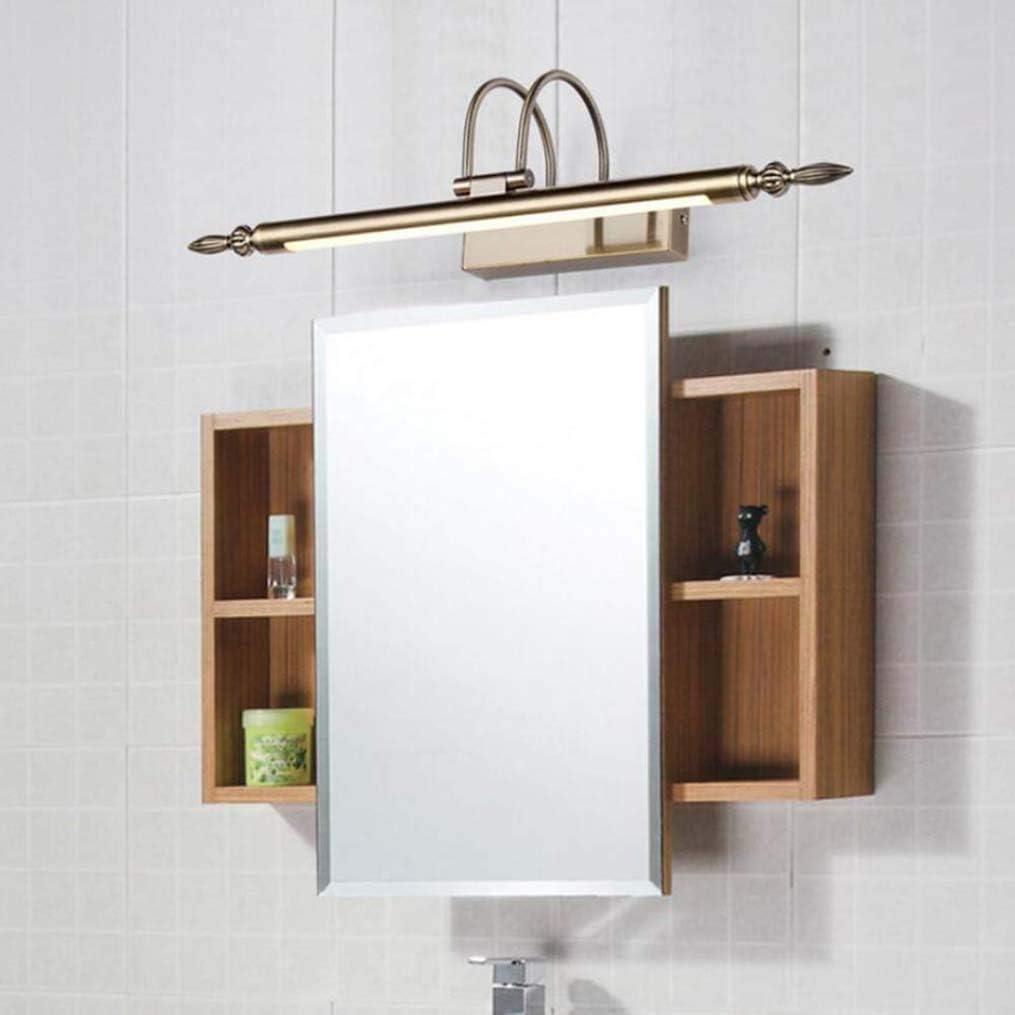 ZYTFC LED Moderne Spiegel Scheinwerfer Badezimmer wasserdichte Wandleuchte Kupfer Material Beleuchtung,Warmlight,76CM