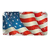 CIGOCI Non-Slip Memory Foam Bath Rugs, 3D Print USA Flag - 18 x 36 Inch, Extra Absorbent,Soft,Duarable and Quick-Dry Shaggy Rugs