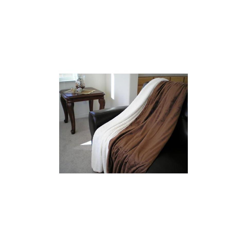 Super Soft Queen Faux Fur / Micro Fiber Blanket / Bedspread / Throw   Brown