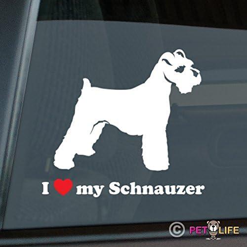 Mister Petlife I Love My Schnauzer Sticker Vinyl Auto Window