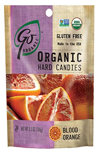 GoOrganic Organic Hard Candies, Blood Orange, 3.5 Ounce Bag (Pack of 6)