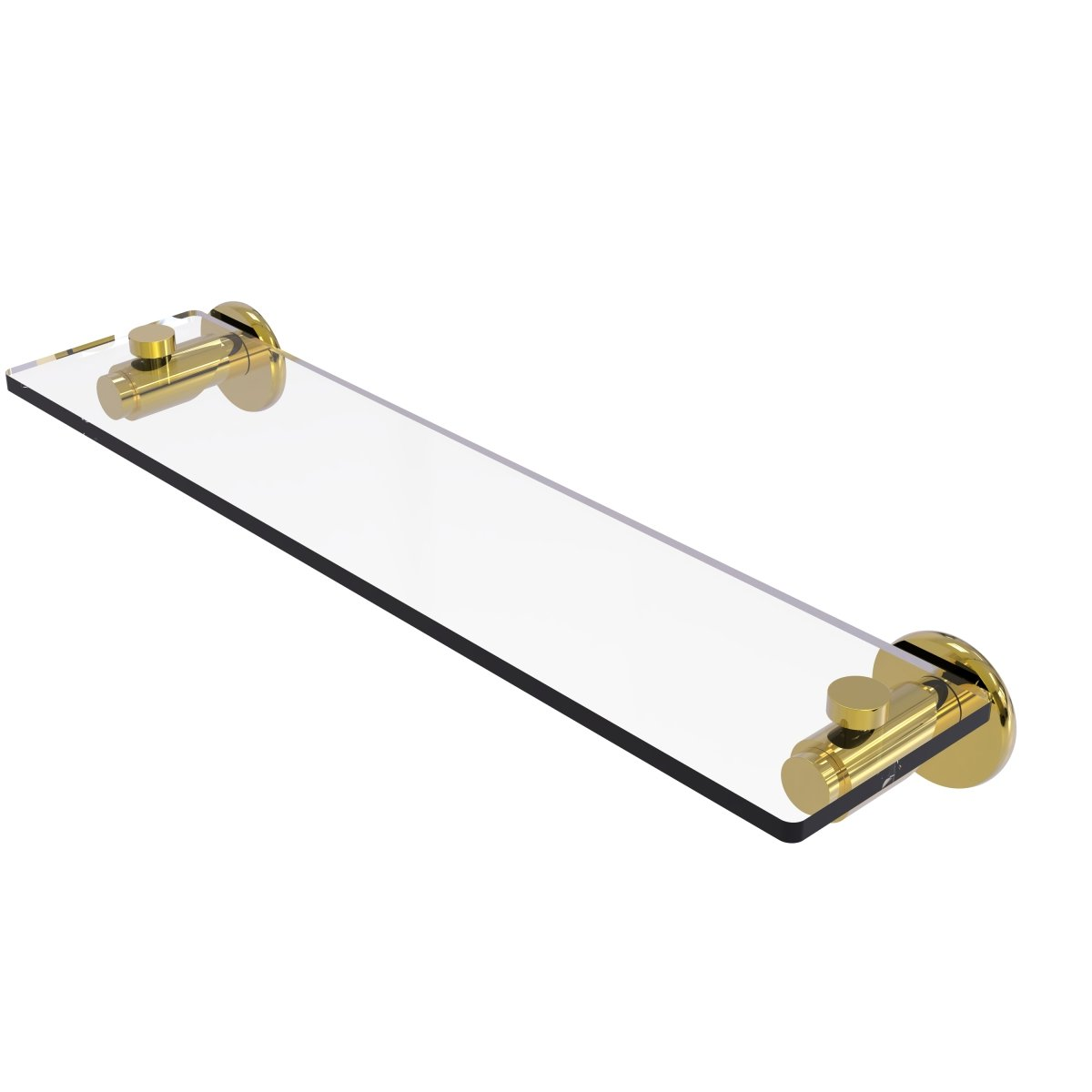 Allied Brass TR-1//22-SN Tribecca Collection 22 Inch Glass Vanity Shelf with Beveled Edges 22-Inch Satin Nickel