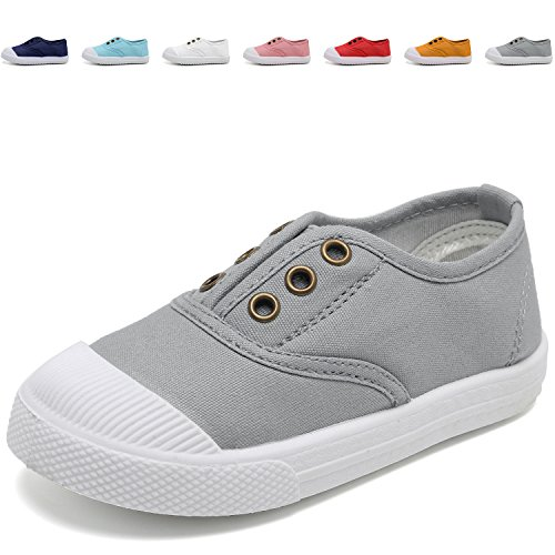 Next Shoes Kids (CIOR Kids Canvas Sneaker Slip-on Baby Boys Girls Casual Fashion shoes(Toddler/ Little Kids)-Gray-25)
