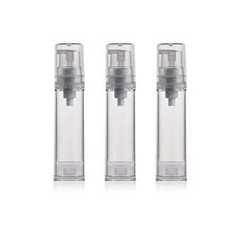 6362f06f150f Amazon.com: 3PCS Empty Clear Refill Plastic Airless Vacuum Pump ...