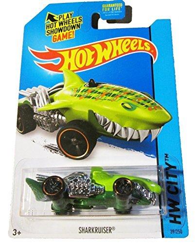 Mattel Hot Wheels 2015 Street Beasts Sharkruiser Flouresc...