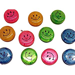 Dazzling Toys Party Favor Set Glitter Smiley Yo-yos 24 Pack.