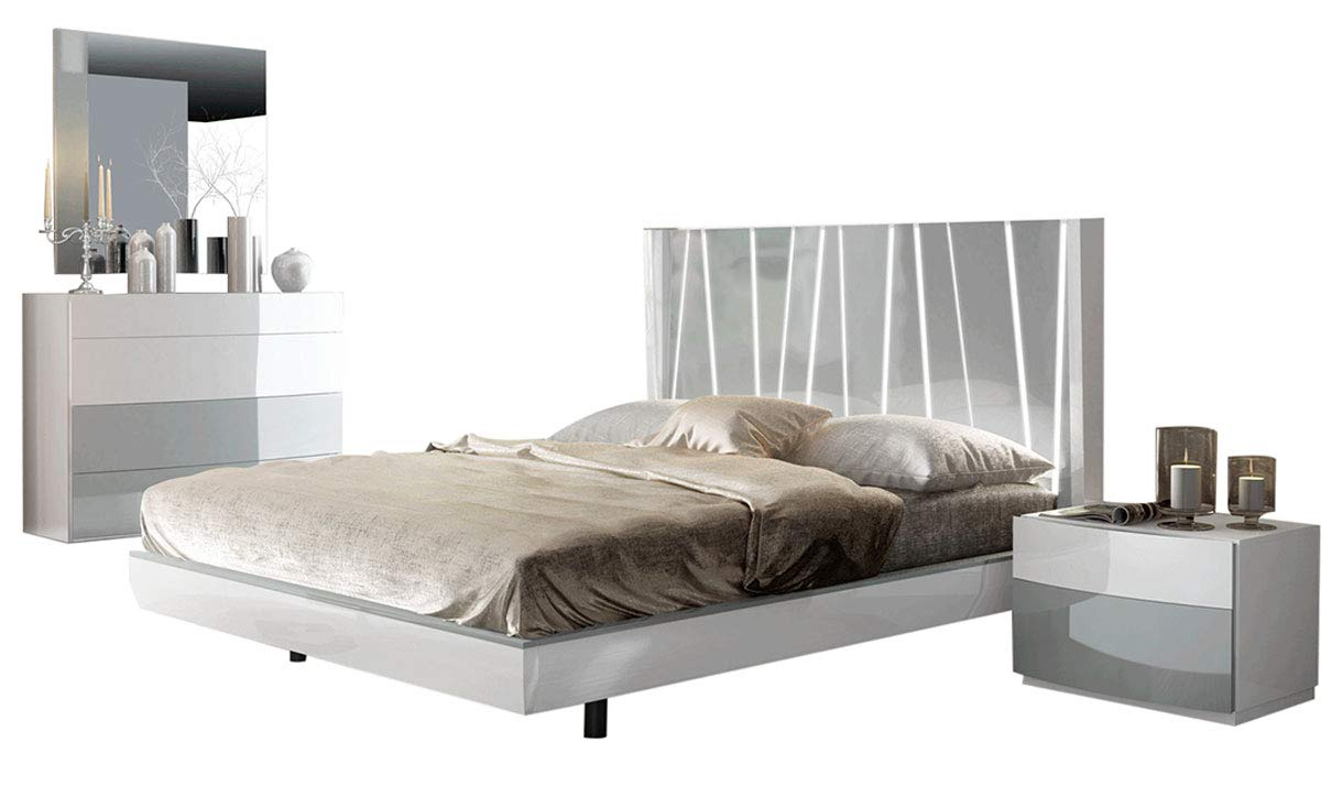 Amazon.com: Ronda Modern Queen Bedroom Set with Dali Bed in White ...