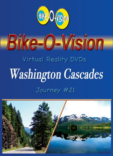 Bike-O-Vision - Virtual Cycling Adventure - Washington Cascades - Perfect for Indoor Cycling and Treadmill Workouts - Cardio Fitness Scenery Video (Fullscreen DVD ()