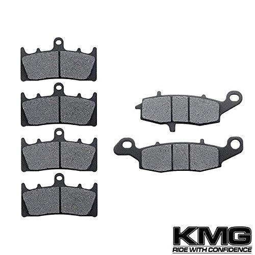 KMG 2002-2003 Kawasaki VN 1500 Vulcan Mean Streak Front + Rear Carbon Kevlar Organic NAO Brake Pads Set