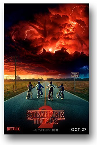 Stranger Things Season 2 Poster - 11 x 17 inch Promo red sky