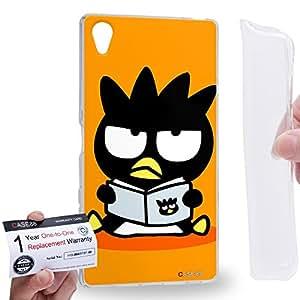 Case88 [Sony Xperia Z5 Premium] Gel TPU Carcasa/Funda & Tarjeta de garantía - Bad Badtz-Maru Collection Bad Badtz-Maru Reading 0639