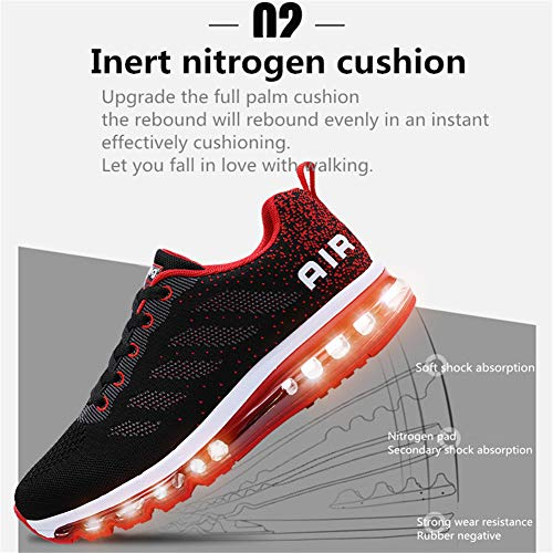Axcone Homme Femme Air Running Baskets Chaussures Outdoor Running Gym Fitness Sport Sneakers Style Multicolore… 4