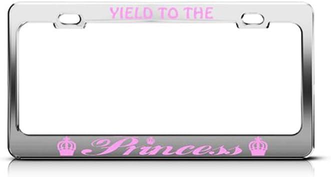 Pink Crystals Chrome Coating Plate Frame Car Tag Truck SUV Van Holder Bracket