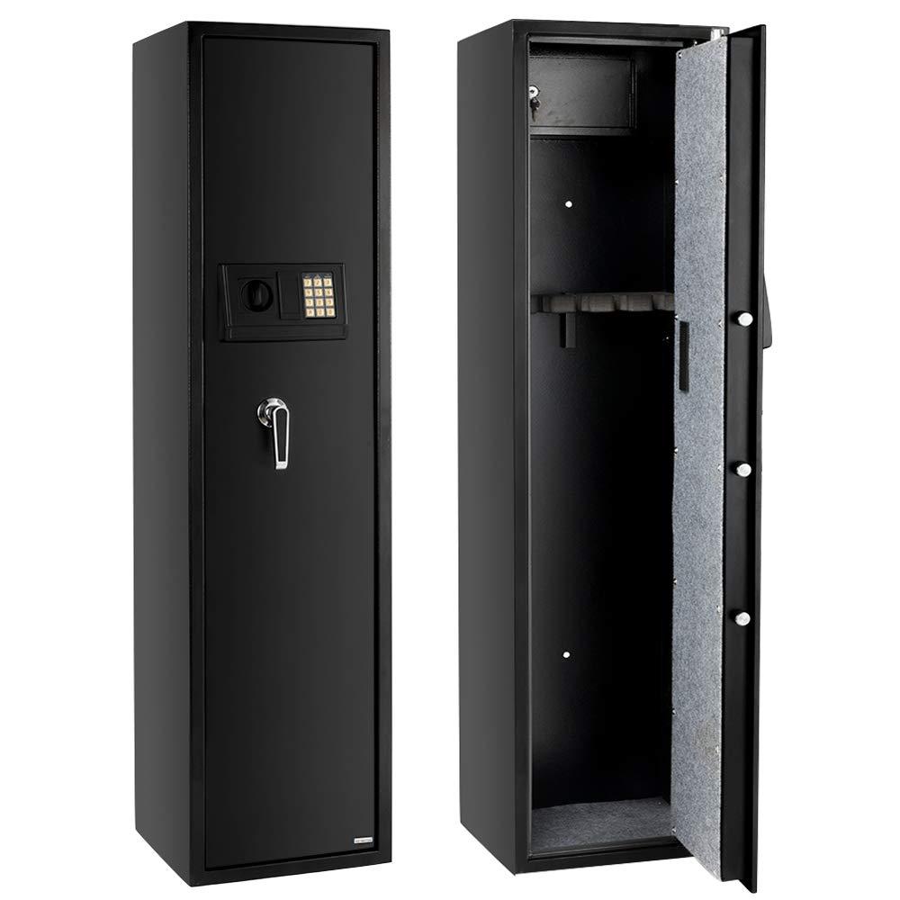 Gun Security Cabinet >> Fch 5 Rifle Gun Safe Large Firearms Shotgun Safe Cabinet Electronic 5 Gun Security Cabinet With Small Lock Box For Handguns Ammo Codes Memory
