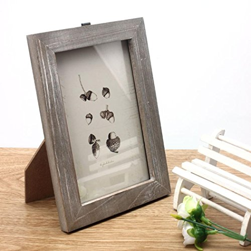 Mikey Store Vintage Photo Frame Home Decor Wooden Wedding Casamento Pictures Frames (Wood Color) (Large Picture Frame No Glass compare prices)