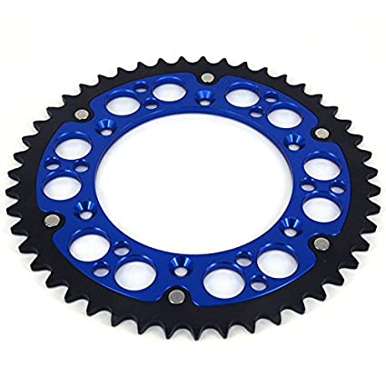 JFG RACING CNC 48T Rear Chain Sprocket For Yamaha YZ125 99-14 YZ450F 03-14 YZ250F 10-14 YZ250 99-14 WR250F 99-00 YZ400F 99 WR400F 99-01 YZ426F 00-02 WR426F 01-02 TTR230 05-14
