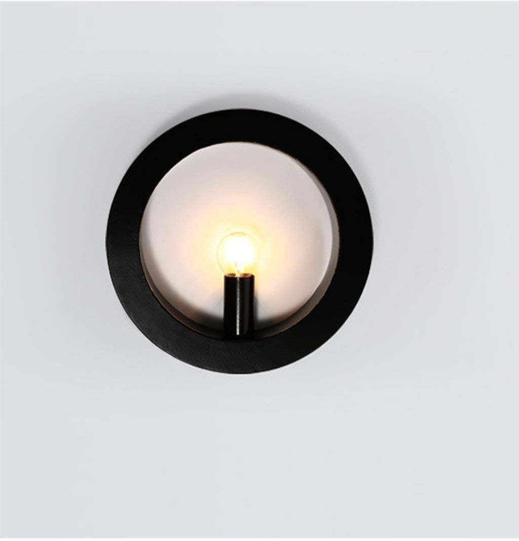 In bianco e nero a parete e con semplici tubi di outdoor moderna camera da letto letto ridor Creative a piedi leggere LED (colore  nero)
