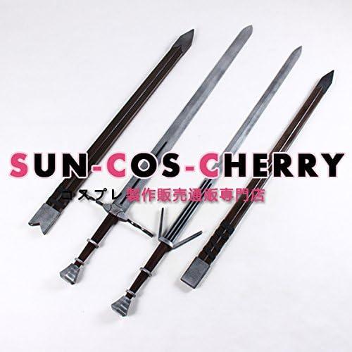 コスプレ道具 B-1470 ウィッチャー3 ワイルドハント ゲラルト 鋼の剣と銀の剣 刀剣武器