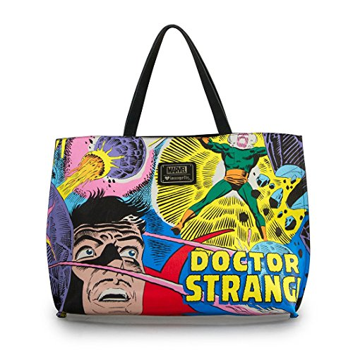 Loungefly Doctor Strange Comic Tote Bag, Multi, One Size ()