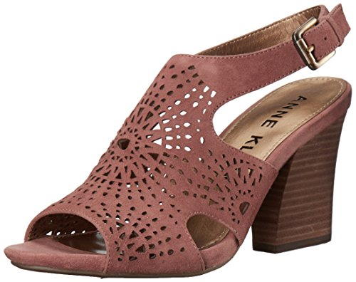(Anne Klein AK Sport Women's Briella Heeled Sandal Light Pink Suede 7 M US)