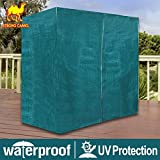 Strong Camel Outdoor Furniture Porch Set 3 Triple Seater Size Swing Cover Protective Protector Zipper closure Green Color