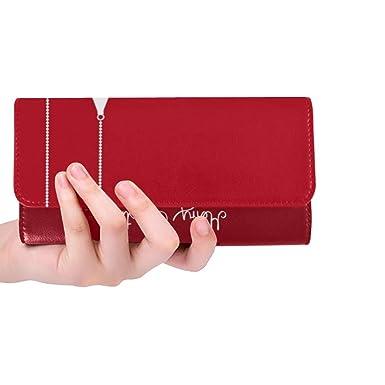 Amazon.com: Monedero de tres pliegues para mujer, diseño ...