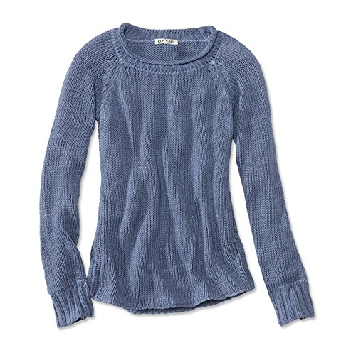 Orvis Women's Garment-Dyed Rollneck Cotton Sweater, Sea Mist, Small